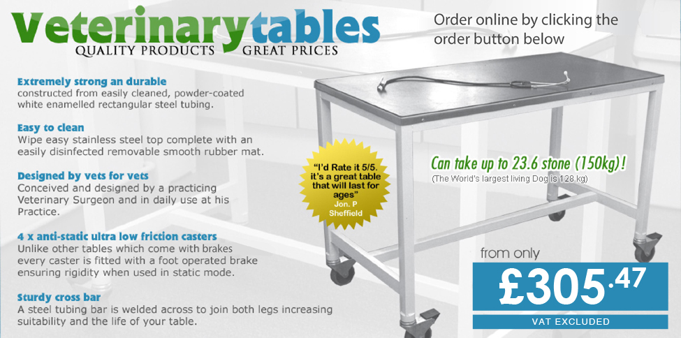 vet clinic tables
